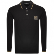 Love Moschino Long Sleeve Polo T Shirt Black